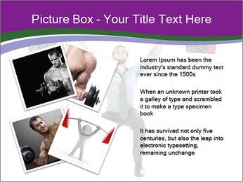 Muscular businessman PowerPoint Template - Slide 23