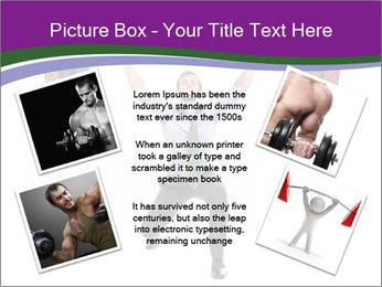 Muscular businessman PowerPoint Template - Slide 24