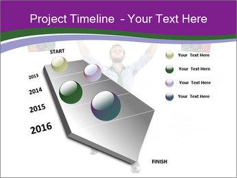 Muscular businessman PowerPoint Template - Slide 26