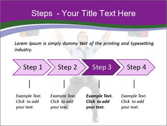 Muscular businessman PowerPoint Template - Slide 4