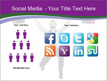 Muscular businessman PowerPoint Template - Slide 5