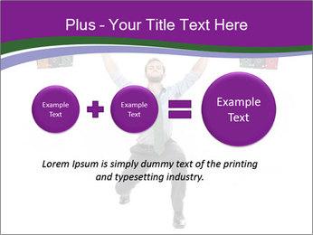 Muscular businessman PowerPoint Template - Slide 75