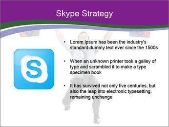 Muscular businessman PowerPoint Template - Slide 8