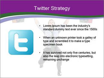 Muscular businessman PowerPoint Template - Slide 9
