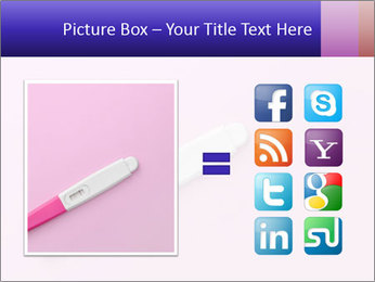 Girl pregnancy test PowerPoint Template - Slide 21