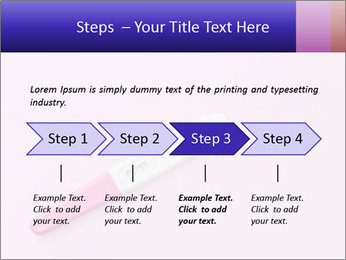 Girl pregnancy test PowerPoint Template - Slide 4