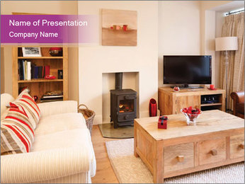 Interiors PowerPoint Template - Slide 1