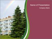 Apartment building PowerPoint Templates