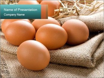 Eggs PowerPoint Template - Slide 1