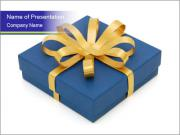 Beautiful blue gift box PowerPoint Templates