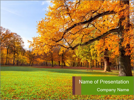 Autumn Landscape PowerPoint Template