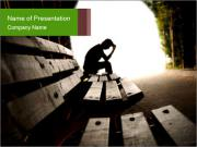 depression powerpoint template & backgrounds id 0000093293, Modern powerpoint