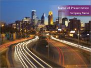 Minneapolis skyline PowerPoint Templates
