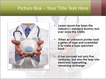 Doctor holding piggy bank PowerPoint Template - Slide 13