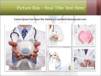 Doctor holding piggy bank PowerPoint Template - Slide 19