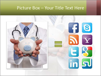Doctor holding piggy bank PowerPoint Template - Slide 21
