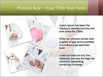 Doctor holding piggy bank PowerPoint Template - Slide 23