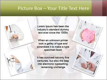 Doctor holding piggy bank PowerPoint Template - Slide 24