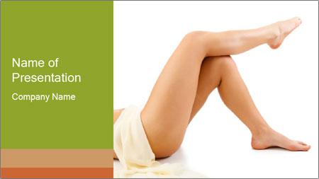 Beautiful legs PowerPoint Template
