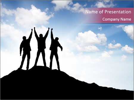 Silhouette of team PowerPoint Template