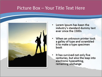 Silhouette of team PowerPoint Template - Slide 13