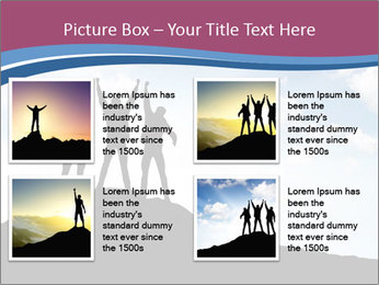 Silhouette of team PowerPoint Template - Slide 14