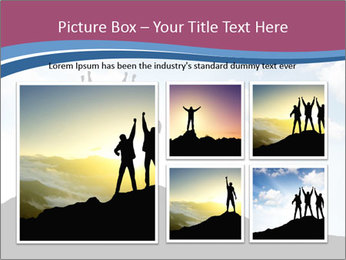 Silhouette of team PowerPoint Template - Slide 19