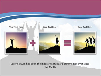 Silhouette of team PowerPoint Template - Slide 22