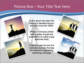 Silhouette of team PowerPoint Template - Slide 24