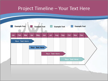 Silhouette of team PowerPoint Template - Slide 25