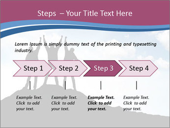 Silhouette of team PowerPoint Template - Slide 4