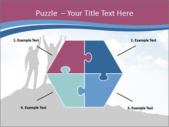 Silhouette of team PowerPoint Template - Slide 40
