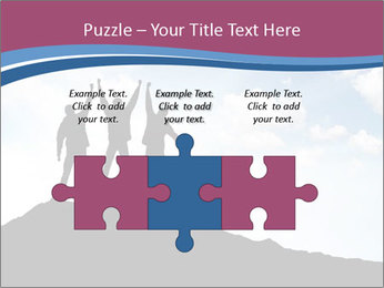 Silhouette of team PowerPoint Template - Slide 42