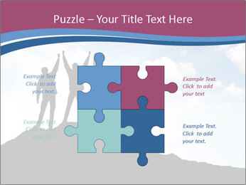 Silhouette of team PowerPoint Template - Slide 43