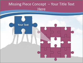 Silhouette of team PowerPoint Template - Slide 45