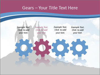 Silhouette of team PowerPoint Template - Slide 48