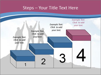 Silhouette of team PowerPoint Template - Slide 64