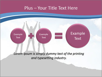 Silhouette of team PowerPoint Template - Slide 75