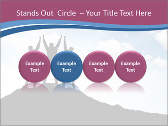Silhouette of team PowerPoint Template - Slide 76