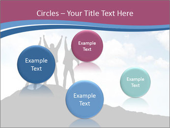 Silhouette of team PowerPoint Template - Slide 77