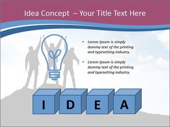Silhouette of team PowerPoint Template - Slide 80