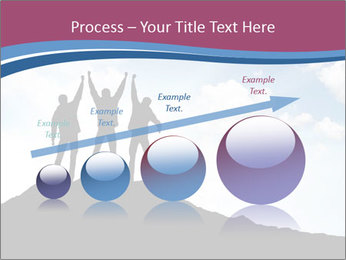 Silhouette of team PowerPoint Template - Slide 87