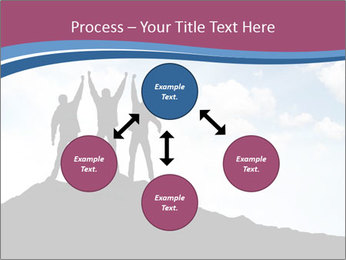 Silhouette of team PowerPoint Template - Slide 91