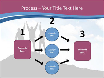 Silhouette of team PowerPoint Template - Slide 92