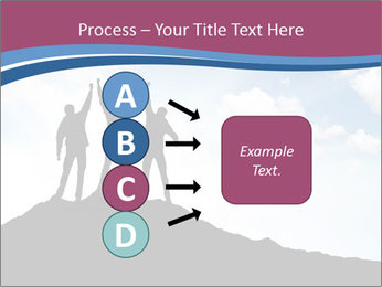 Silhouette of team PowerPoint Template - Slide 94