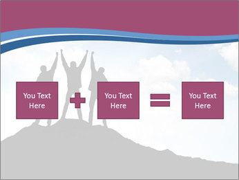 Silhouette of team PowerPoint Template - Slide 95