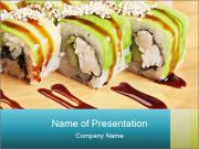 Asian food sushi PowerPoint Templates