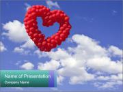 Heart-shaped baloon PowerPoint Template