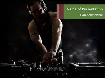 DJ Mixing PowerPoint Template - Slide 1