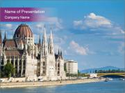 Parliament in Budapest PowerPoint Templates
